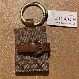 NWT Coach Signature Picture Frame Keyfob/Keychain